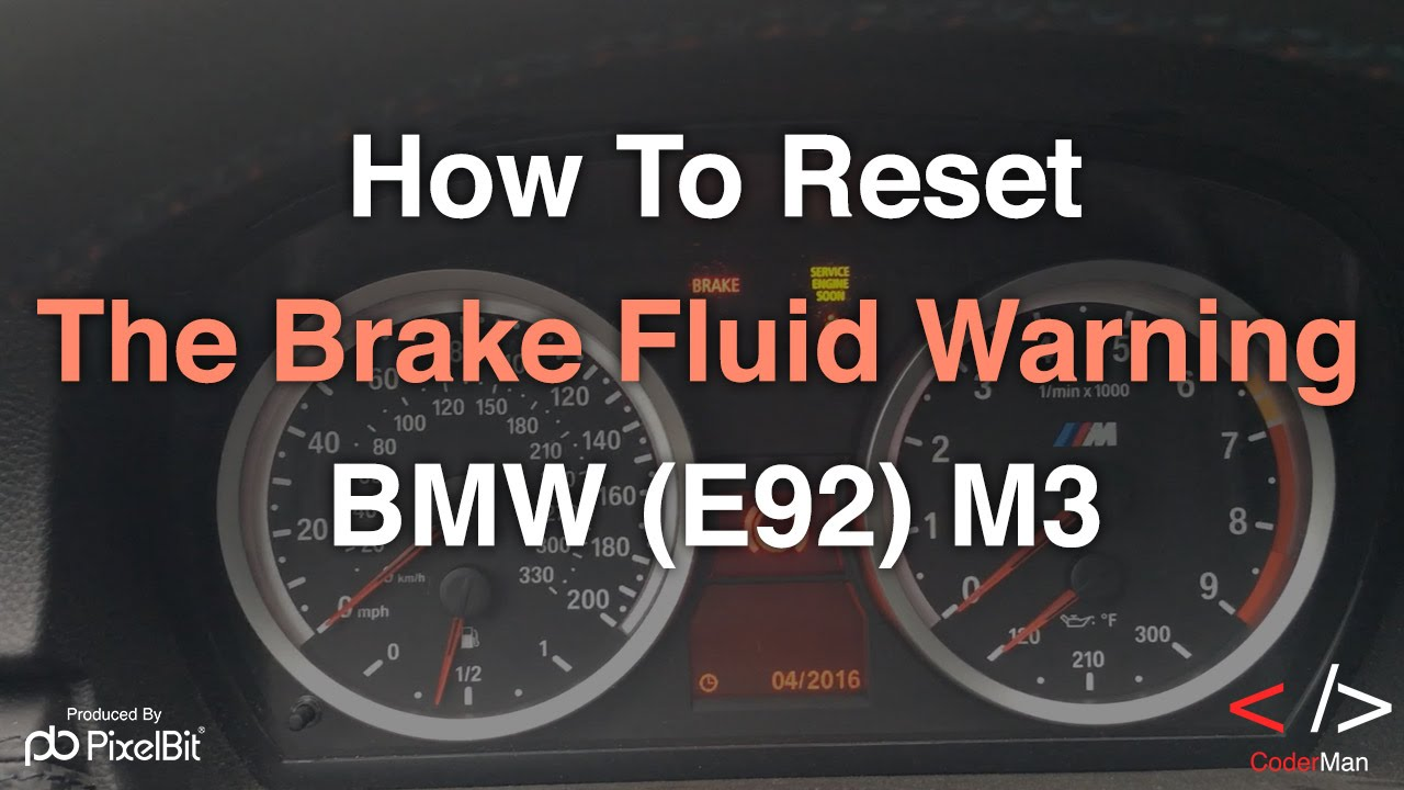 How To Reset The Brake Fluid Warning on the BMW E92 M3  YouTube