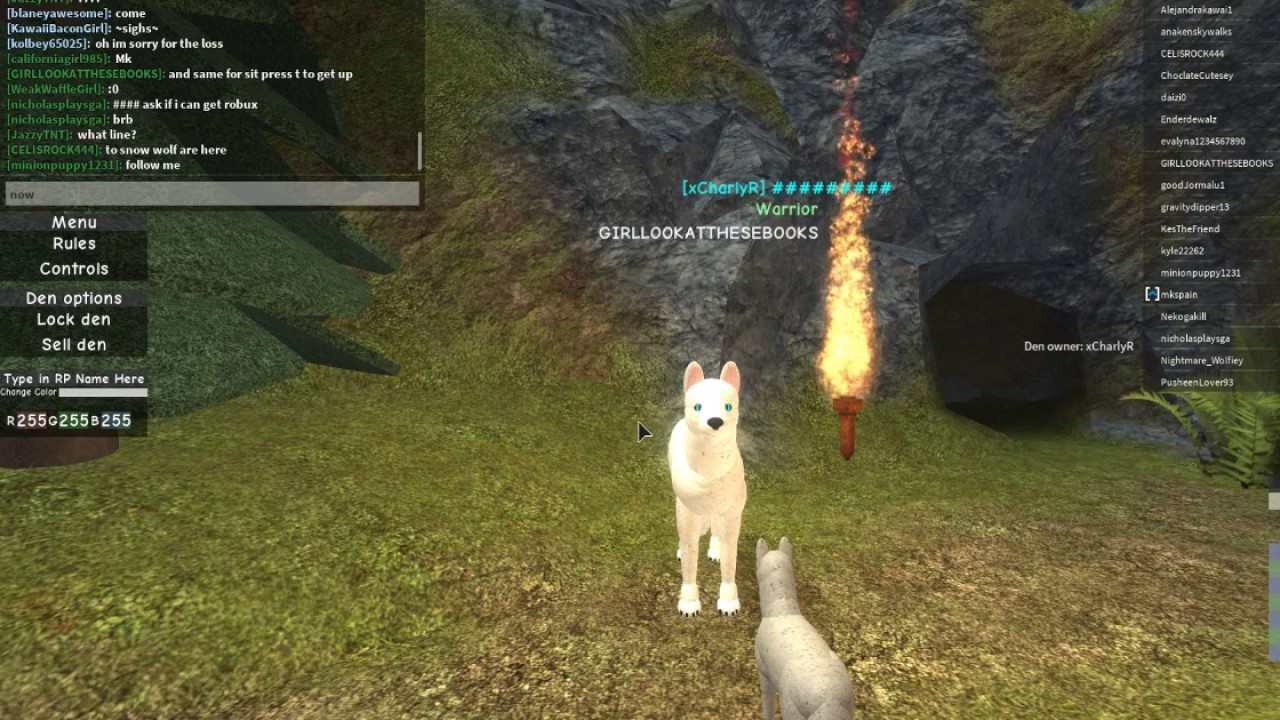 Roblox All Controls In Wolves Life Pc Old Youtube