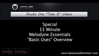 Melodyne Essentials Basic Uses Overview - Studio One Take 5 Videos