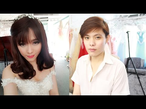 Transgender Bride Makeup transformation boy to girl / Makeup ✔
