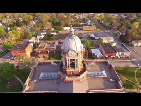 An Aerial View of the Mercer County Courthouse