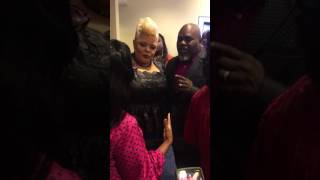 super bowl gospel celebration red carpet with david and tamela mann