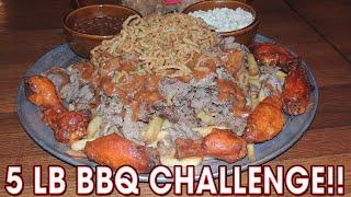 MASSIVE BBQ Challenge Platter w/ Hot Wings @ Big Chief Roadhouse!!