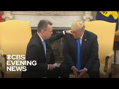 Pastor Andrew Brunson returns to U.S., meets President Trump