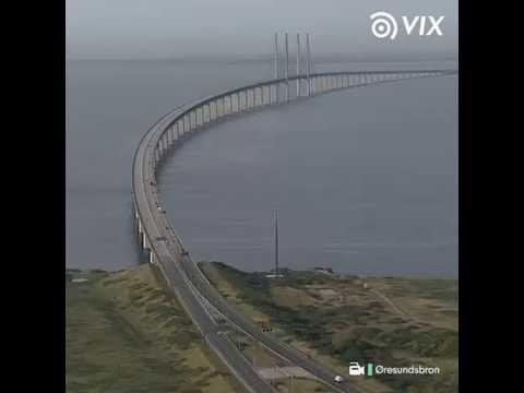 Ponte do Øresund- Conheça a ponte que submerge em um país e reaparece em outro