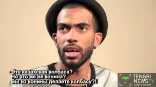 Иностранцы пробуют наурыз-коже/ Foreigners tried nauryz-kozhe