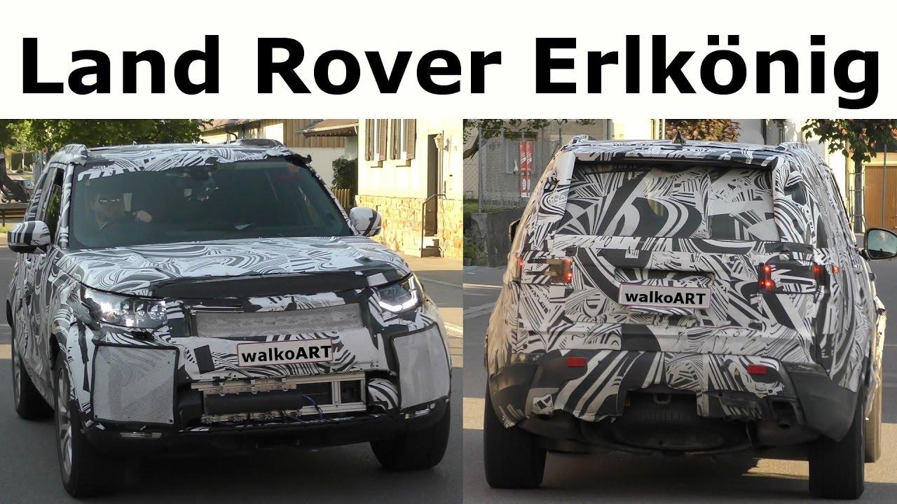 land rover erlkönig auf der straße - land rover prototype on the