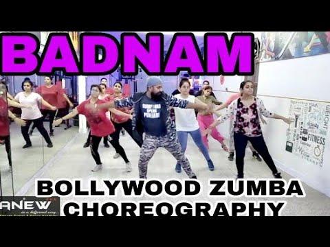 Badnam | Mankirt Aulakh Feat DJ Flow | Bollywood Zumba Choreography | SUKH |Anew Fitness Centre