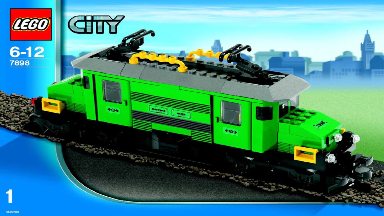 Lego Cargo Train Deluxe 7898 Instruction Booklet Youtube