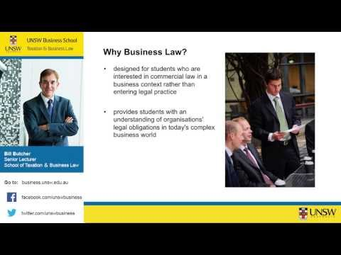 UNSW Business School Majors: Business Law