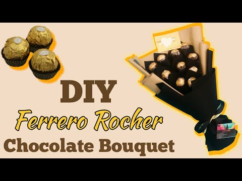 HOW TO MAKE FERRERO ROCHER CHOCOLATE BOUQUET   CARA MEMBUAT BUKET COKLAT FERRERO ROCHER