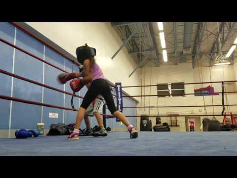 Natalie Martinez sparring