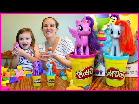 My Little Pony PlayDoh Cupcake Challenge!  Mommy Etc