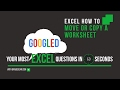 Excel How To: How to Copy Or Move a Sheet in Excel