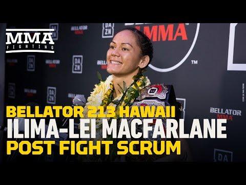 [Spoiler] Bellator 213: Ilima-Lei Macfarlane vs Valerie Letourneau Winner - Post-fight Press Conference