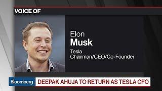 Elon Musk Says Tesla CFO Jason Wheeler Is Leaving