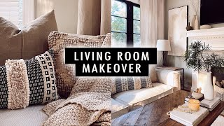 EXTREME LIVING ROOM MAKEOVER + DIY Home Decor | XO, MaCenna