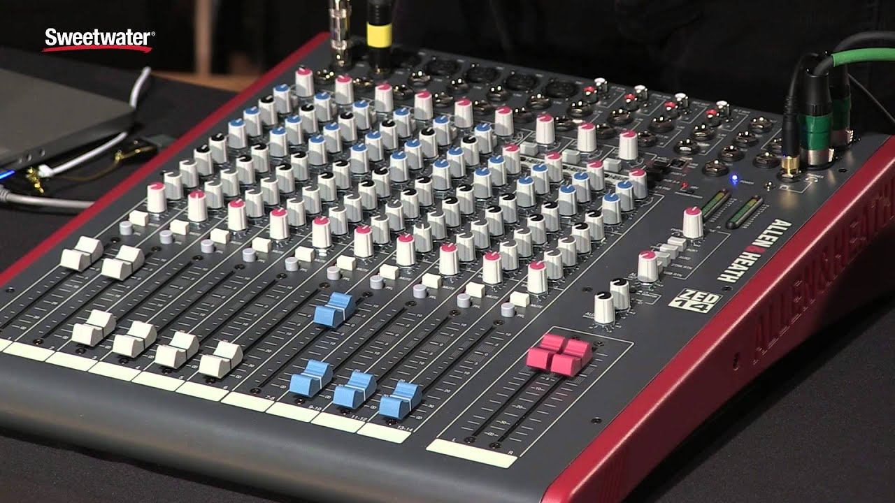 allen heath zed series mixers review by sweetwater sound youtube. Black Bedroom Furniture Sets. Home Design Ideas