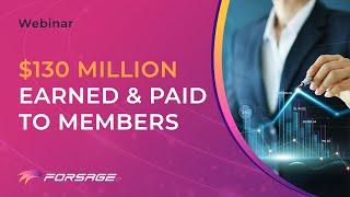 FORSAGE Community Webinar | $130 Million Earned By Members | July 22