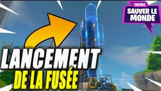 Fortnite Save the World, launch of the Fontainebois rocket