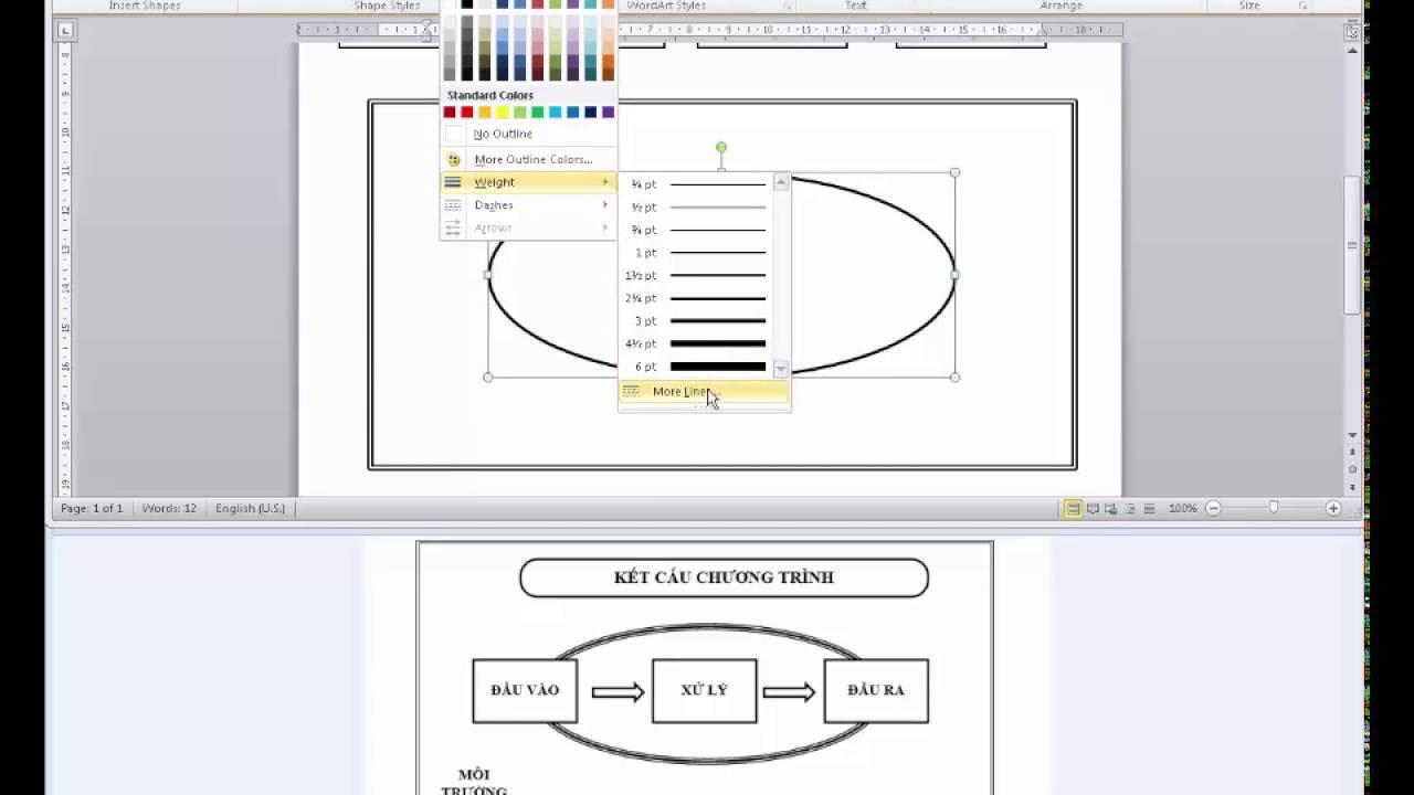 Hướng dẫn thực hành vẽ Autoshape trong Word (bài số 7)