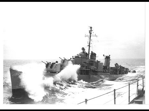 USS Myles C Fox DDR-829 in Heavy Seas