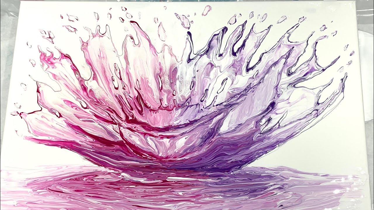 (241) SPLASH! Take 2 - Fluid Acrylics Palette Knife Painting - Flow Art -  Beyond Pouring