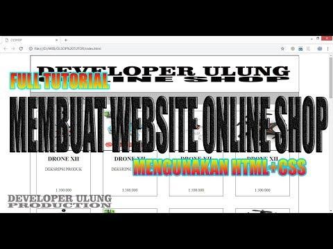 FULL TUTORIAL MEMBUAT WEBSITE ONLINE SHOP DENGAN MUDAH MENGUNAKAN CSS+HTML