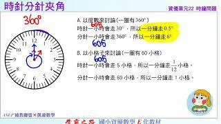 國小資優數學 單元22 時鐘問題 題1 時針分針夾角 ASEPx凱爺數學
