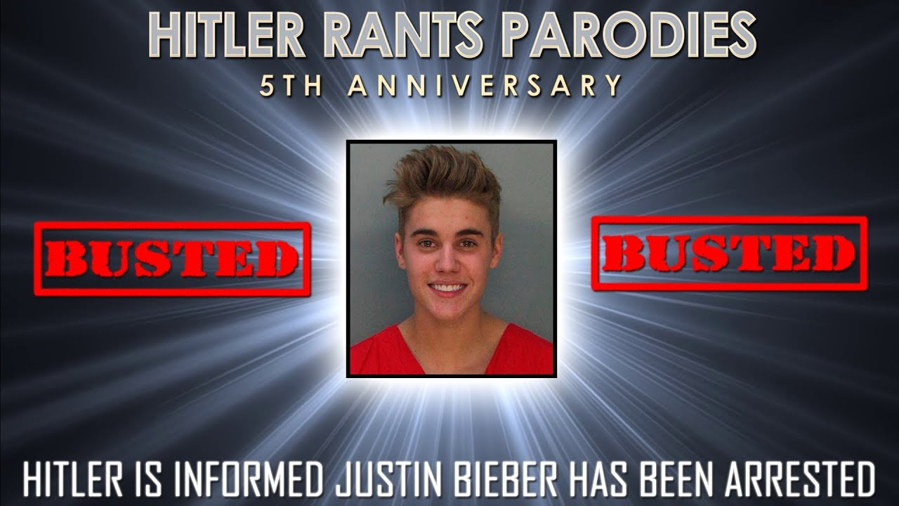 Hitler is informed Justin Bieber has been arrested