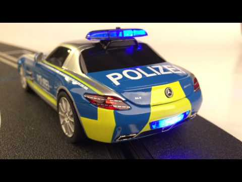 Carrera slot cars – Mercedes SLS Polizei