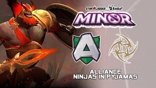 Alliance vs NiP | StarLadder ImbaTV Dota 2 Minor Season 2