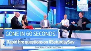 Jose or Pep? Biggest rivalry in British football? It's another episode of Gone in 60 Seconds!