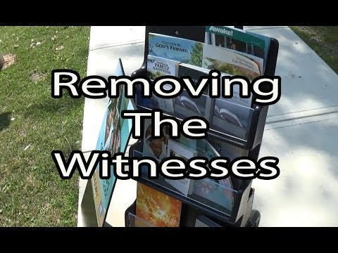 Removing Jehovah's Witnesses From Local Park
