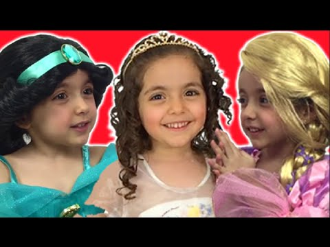 Princess Surprise Eggs Opening & Dress Up - Cinderella, Rapunzel, Elsa And Anna