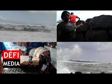 À Rivière-des-Galets : de grosses vagues envahissent les maisons en dépit des murs en pierres