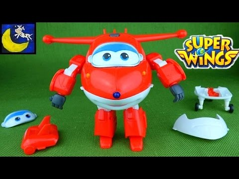 Super Wings Toys Transform N Talk Jett Take Apart Mix N Match Airplane and Bot from Sprout Channel
