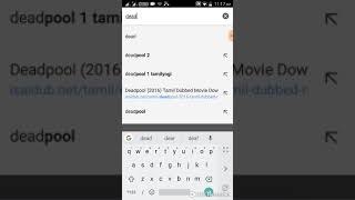 How to download Deadpool 1 full movie in tamil