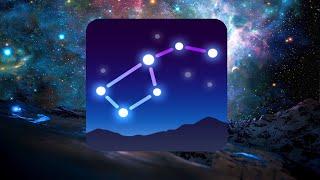 Карта звёздного неба Star Walk 2: Наведи смартфон на него и он покажет тебе все созвездия, звёзды