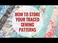 Sewing Room Confidential : How to store traced sewing patterns from magazines and books