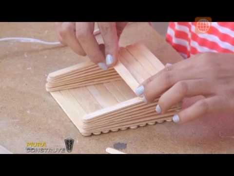 Manualidades organizador con palitos de chupete youtube - Como hacer un lapicero de madera ...