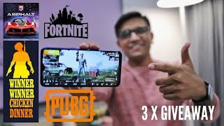 RealMe 3 Pro Gaming Experience - PUBG, Fortnite & Asphalt 9 with Surprise