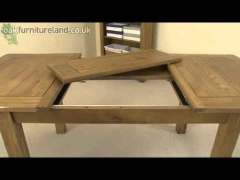 "Rustic Solid Oak 4ft 3"" x 3ft Extending Dining Table From Oak Furniture Land"
