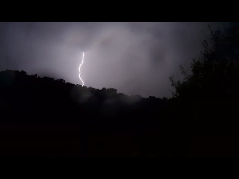 Rovinj (Croatia) Thunder and Lightning Time Lapse (4K@60fps)