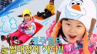 라임의 신나는 눈썰매장! 경주월드 스노우파크 겨울왕국 테마파크 놀이공원 1편 | 뽀로로 로보카폴리 엘사 터닝메카드 Frozen Playground| LimeTube & Toy