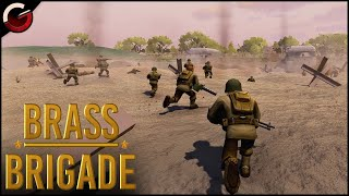 OMAHA BEACH BATTLEFIELD! Funny World War 2 Cartoon Shooter | Brass Brigade Gameplay