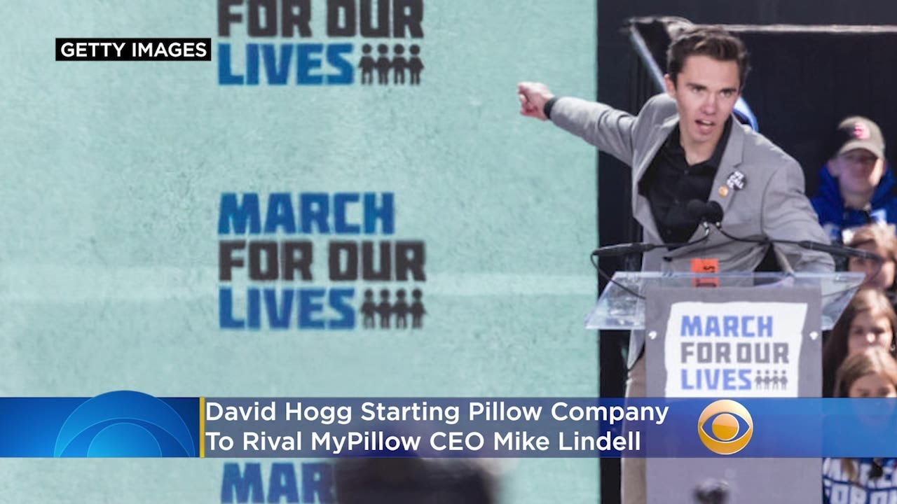 David Hogg says he's starting a pillow company, taking on ...