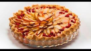 Яблочный пирог с брусникой | Теле-теле-тесто