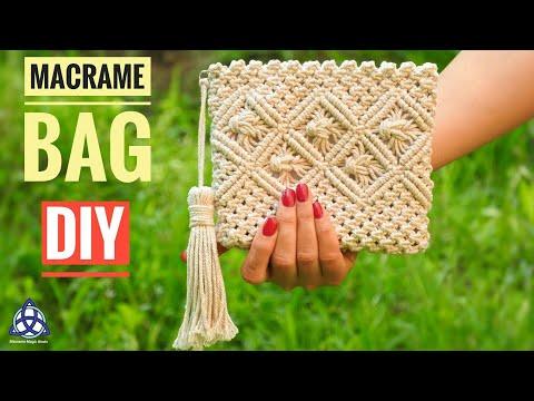 Macrame Bag Tutorial - DIY Macrame Wallet for Girls thumbnail