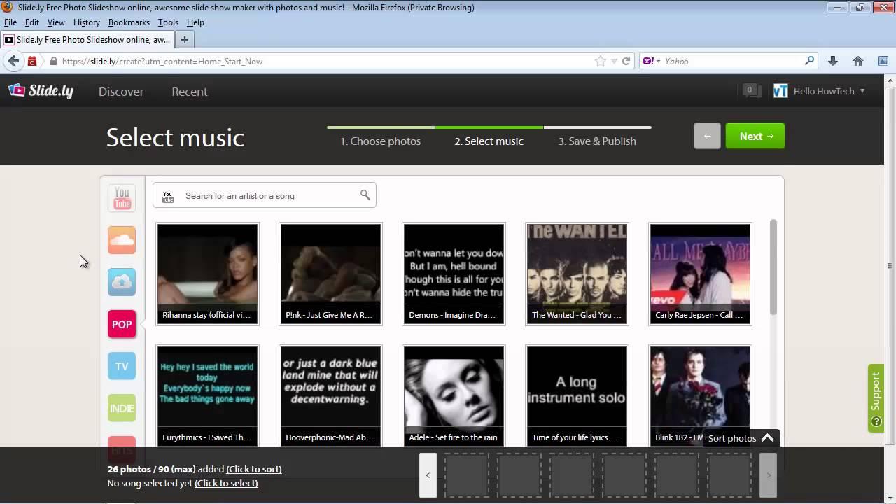 web photo slide show